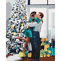 """Картина по номерам. Люди """"Новогоднее настроение"""" 40х50см БЕСПЛАТНАЯ ДОСТАВКА """"Justin"""""""