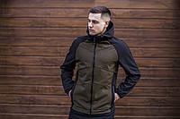 """Куртка мужскаяSoft Shell с капюшоном /  Valeriyskaya stal' """" Khaki-Black"""