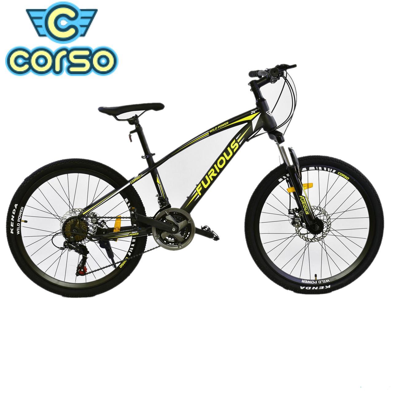 Велосипед Спортивный CORSO FURIOUS 24 дюйма