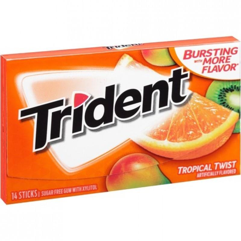Жвачка Trident Original Tropical Twist Тропические фрукты