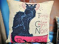 Подушка гобеленовая Metrax Черный кот 45х45