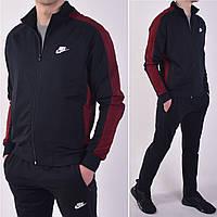 Размеры: 46/48/50/52/54. Мужской спортивный костюм Nike (Найк) / Трикотаж двунитка - темно синий