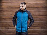 """Куртка мужскаяSoft Shell с капюшоном / Valeriyskaya stal' """" Blue-Black"""