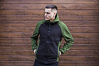 """Куртка мужскаяSoft Shell с капюшоном / Valeriyskaya stal' """" Black-Green"""