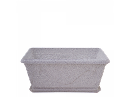"""Вазон """"Петунія"""" з підставкою балконний 40,6*21,8 див. (білий флок)"""
