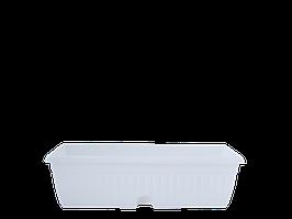 """Горшок балконный с подставкой МК 100*19см. (белый) """"Терра"""""""