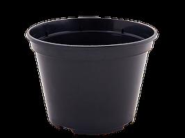 Вазон для рассады круглый 14,0*10,5см. (чёрный)
