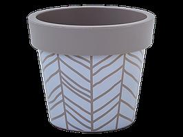 """Вазон """"Гамма"""" с декором 26*22см. (Stripe, какао)"""