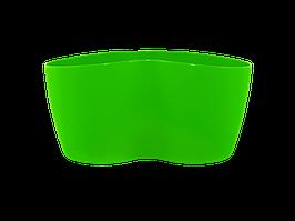 """Вазон """"Кактусник"""" на 2 растения (светло-зелёный)"""