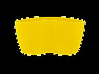 """Вазон """"Кактусник"""" на 2 растения (т.жёлтый)"""