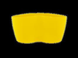 "Вазон ""Кактусник"" на 2 растения (тёмно-жёлтый)"