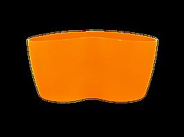 """Вазон """"Кактусник"""" на 2 растения (оранжевый)"""