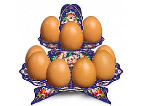 Декоративна підставка для яєць №12 Жостово (12 яєць) ТМEASTERS