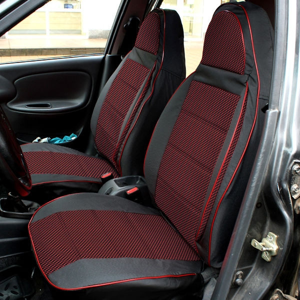 Чехлы на сиденья Ауди А6 С5 (Audi A6 C5) (универсальные, автоткань, пилот)