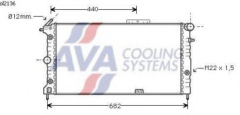 Радиатор охлаждения OPEL VECTRA A 1988- 1.4-2.0 АКП AVA