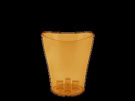 """Вазон """"Ніка"""" для орхідей 16*19 см. (янтарний)"""