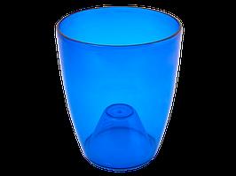 """Вазон """"Орхідея"""" 12*14 см. (синій тощо)"""