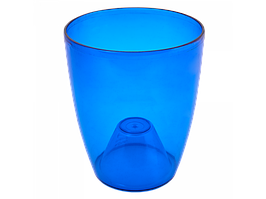 """Вазон """"Орхідея"""" 15*17 см. (синій тощо)"""