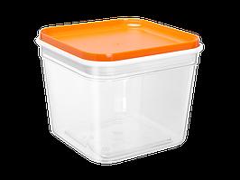 """Емкость для сыпучих продуктов """"Фикс"""" 0,6л. (_пр./св.-оранж.)"""