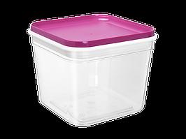 """Емкость для сыпучих продуктов """"Фикс"""" 0,6л. (_пр./т.розовая)"""