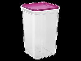"""Емкость для сыпучих продуктов """"Фикс"""" 1,3л. (_пр./т.розовая)"""
