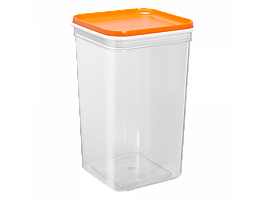 """Емкость для сыпучих продуктов """"Фикс"""" 1,3л. (_пр./св.-оранж.)"""