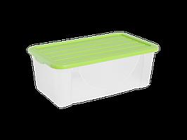 Емкость для хранения вещей с крышкой  6л. (оливк.)