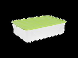 Емкость для хранения вещей с крышкой 22л. (оливк.)