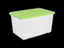 Емкость для хранения вещей с крышкой 40л. (оливк.)