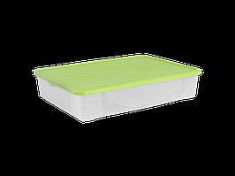 Емкость для хранения вещей с крышкой 45л. (оливк.)