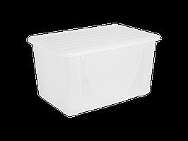 Емкость для хранения вещей с крышкой 40л. (прозрачная)