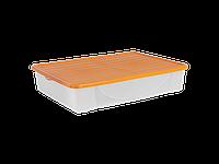 Емкость для хранения вещей с крышкой 45л. (светло-оранж.)
