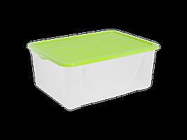 Емкость для хранения вещей с крышкой  9,6л. (оливк.)