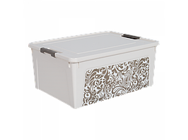 "Контейнер ""Smart Box"" с декором Home 7,9л. (_б.роза/какао)"
