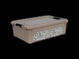 """Контейнер """"Smart Box"""" с декором Home 14л. (кремовый)"""