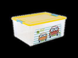 "Контейнер ""Smart Box"" с декором My Car  7,9л. (_пр./т.жёлт./бирюз.)"