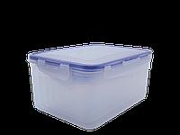 """Набор контейнеров для пищевых продуктов с зажимом прямоугольных """"3 в 1"""" (прозрачный)"""