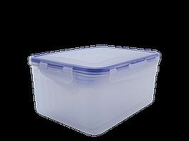 """Набір контейнерів для харчових продуктів із зажимом прямокутних """"3 в 1"""" (прозорий)"""