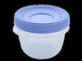 """Контейнер для харчових продуктів """"Омега"""" круглий 0,285 л. (_пр./бузковий)"""