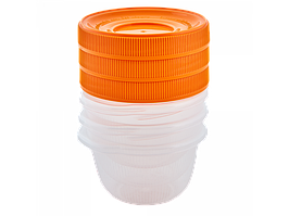 """Набір контейнерів для харчових продуктів """"Омега"""" 0,285 л (3 шт) (_пр./св.-оранж.)"""