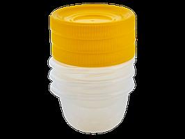 """Набір контейнерів для харчових продуктів """"Омега"""" 0,285 л (3 шт) (_пр./т. жовтий)"""