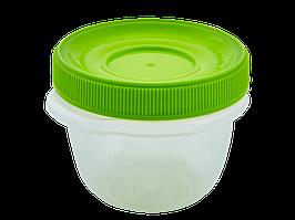 """Контейнер для харчових продуктів """"Омега"""" круглий 0,285 л. (_пр./оливки.)"""