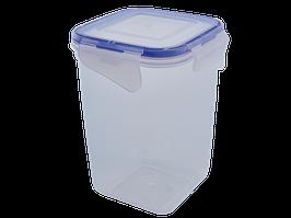 Контейнер для пищевых продуктов с зажимом глубокий 1л. (прозрачный)