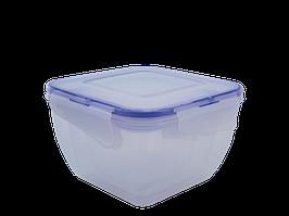 """Набір контейнерів для харчових продуктів із зажимом квадратних """"3 в 1"""" (прозорий)"""