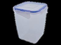 Контейнер для пищевых продуктов с зажимом глубокий 2л. (прозрачный)