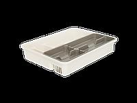 Лоток для столовых приборов со вставкой (_б.роза/какао)
