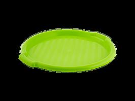 Поднос круглый d388,5*24,5мм. (оливк.)