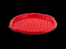 Поднос круглый d388,5*24,5мм. (красная)