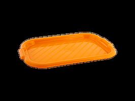 Піднос прямокутний 45*30*4см. (світло-оранж.)