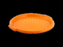 Поднос круглый d388,5*24,5мм. (светло-оранж.)